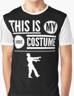 Funny Halloween TShirt Hoodie Costume This is my Zombie Costume Graphic T-Shirt