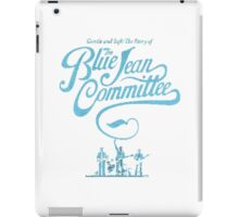 blue jam committe iPad Case/Skin
