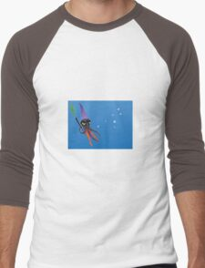 """""""Squizard"""" with bubbles Men's Baseball ¾ T-Shirt"""