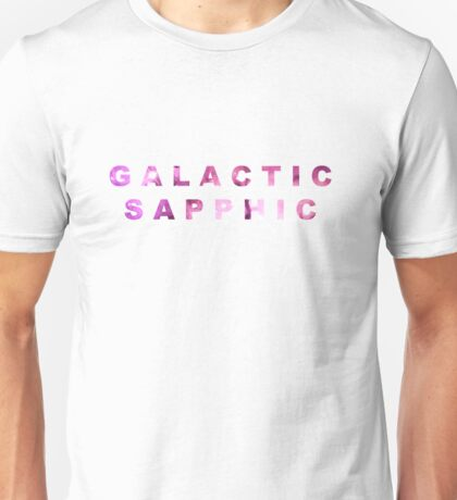 Galactic Sapphic - Space LGBT+ Unisex T-Shirt