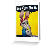 Zootopia - We can do it Judy Hopps Greeting Card