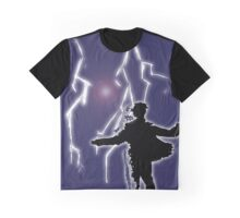 Digital Lightning  Graphic T-Shirt