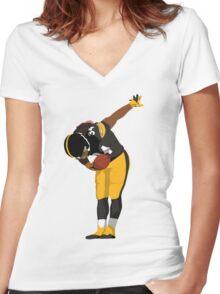 DeAngelo Williams Bow Art Women's Fitted V-Neck T-Shirt