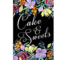 Cake & Sweets Wedding Sign Photographic Print