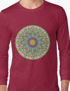 RAINBOW CHAMELEON MANDALA Long Sleeve T-Shirt