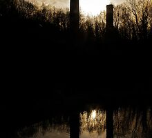 Sunset over the Brick Works by Yampimon