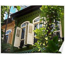 Singapore Shophouses Poster
