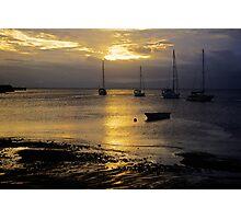 Sunset Savusavu Harbour (Landscape)  Photographic Print