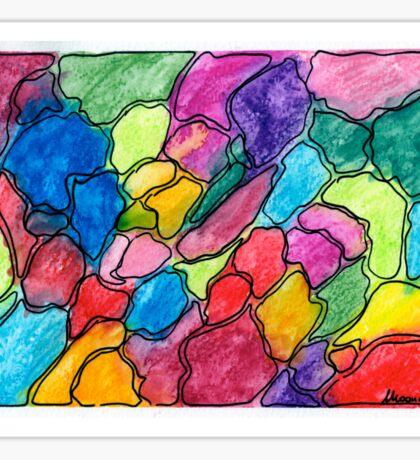 Colored gravel Sticker