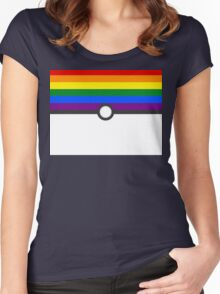 LGBT+ Gay Pride PokeBall Women's Fitted Scoop T-Shirt