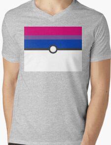 LGBT+ Bi Pride PokeBall Mens V-Neck T-Shirt
