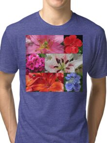 Summer Beauties Floral Collage Tri-blend T-Shirt