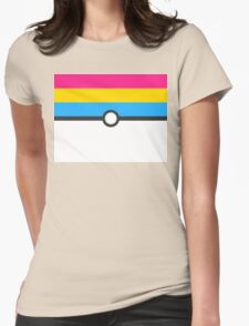 LGBT+ Pan Pride PokeBall Womens Fitted T-Shirt