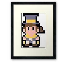 Pixel Hat Kid Framed Print