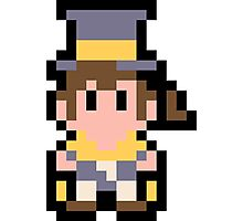 Pixel Hat Kid Photographic Print
