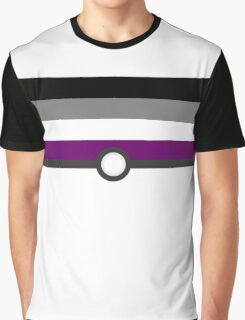 LGBT+ Ace Pride PokeBall Graphic T-Shirt