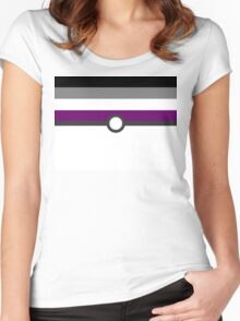 LGBT+ Ace Pride PokeBall Women's Fitted Scoop T-Shirt
