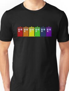 Rainbow Tardis' Unisex T-Shirt