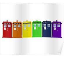 Rainbow Tardis' Poster