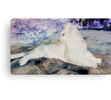 NegaCat Relaxed Life Canvas Print