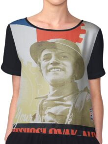 Vintage poster - Your Czechoslovak Ally Chiffon Top