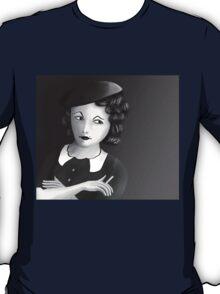 Film Noir Female Character Smoking Cigarette Looking Aside  T-Shirt