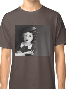Film Noir Female Character Smoking Cigarette Looking Aside  Classic T-Shirt
