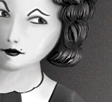 Film Noir Female Character Smoking Cigarette Looking Aside  Sticker
