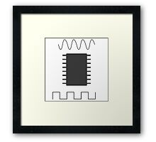 Computer chip Framed Print