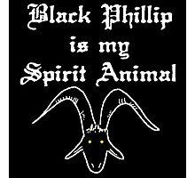 BLACK PHILLIP IS MY SPIRIT ANIMAL Photographic Print