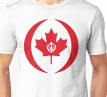 Canadian Sikh Multinational Patriot Flag Series Unisex T-Shirt