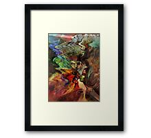 Kissing the Beast Framed Print