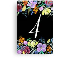 Number 4 Canvas Print