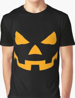 Smile Pumpkin Face On Halloween Graphic T-Shirt