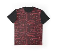 Red Circuits Graphic T-Shirt