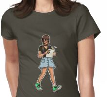 Me walking down the street Womens Fitted T-Shirt