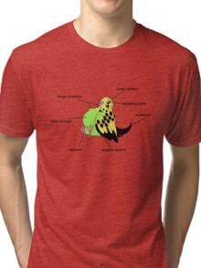 Anatomy of the Parakeet Tri-blend T-Shirt