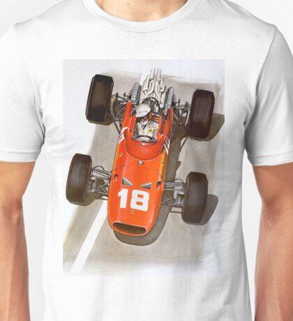 """""""MONACO GRAND PRIX"""" Ferrari Auto Race Print Unisex T-Shirt"""