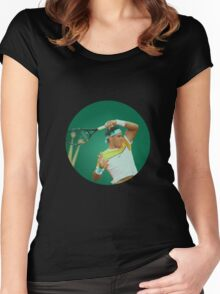 Nadal Stain Glass Women's Fitted Scoop T-Shirt