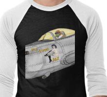 Aircraft nose art My Sweet Jax Men's Baseball ¾ T-Shirt