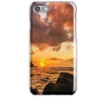 Sun , sea and sunset iPhone Case/Skin