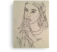 One Continous line drawing  Canvas Print