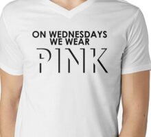 On Wednesdays We Wear Pink - Mean Girls Quote T-shirt Mens V-Neck T-Shirt