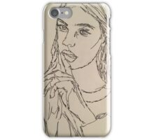 One Continous line drawing  iPhone Case/Skin