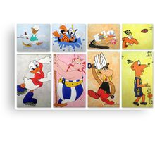 Cartoon Characters  Canvas Print