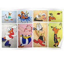 Cartoon Characters  Poster
