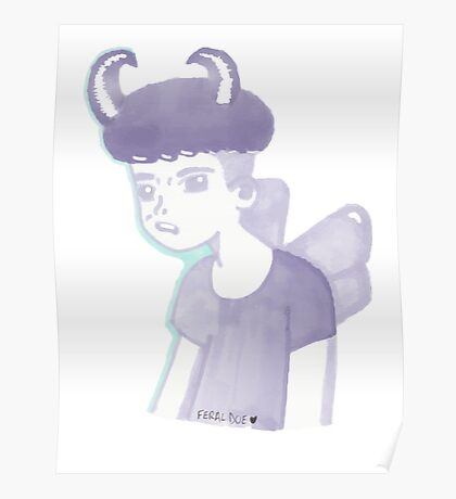 Pastel Pixie Punk Boy Poster