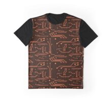 Orange Circuits Graphic T-Shirt