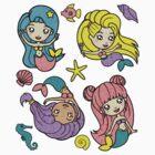 Mermaids Pattern by bayleejae
