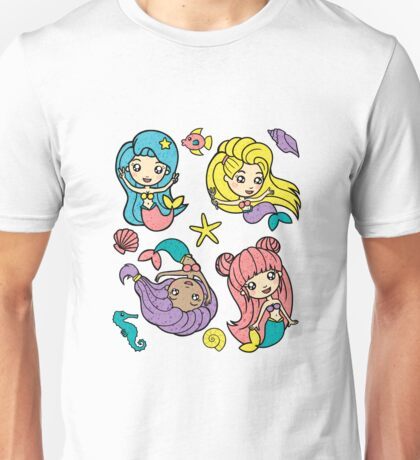 Mermaids Pattern Unisex T-Shirt